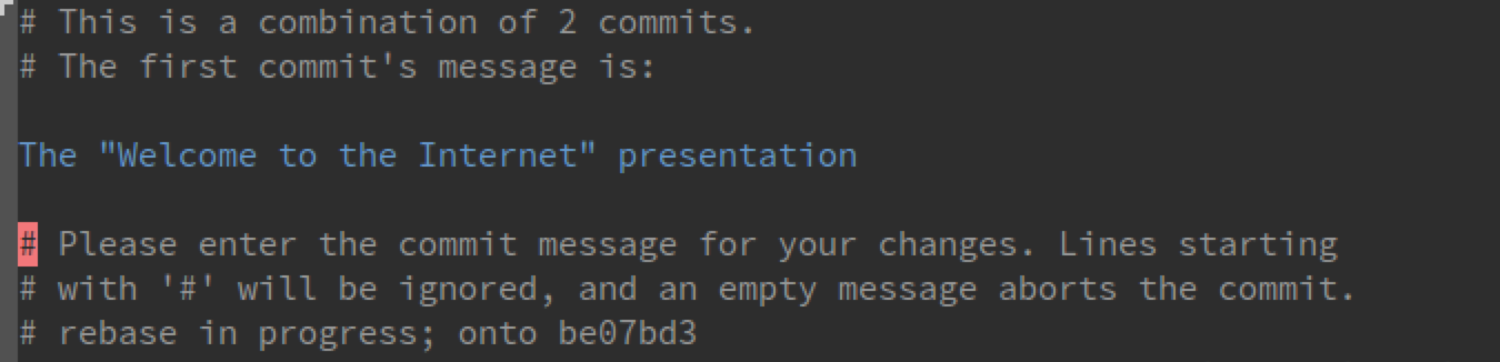 Squashing Commits with Magit
